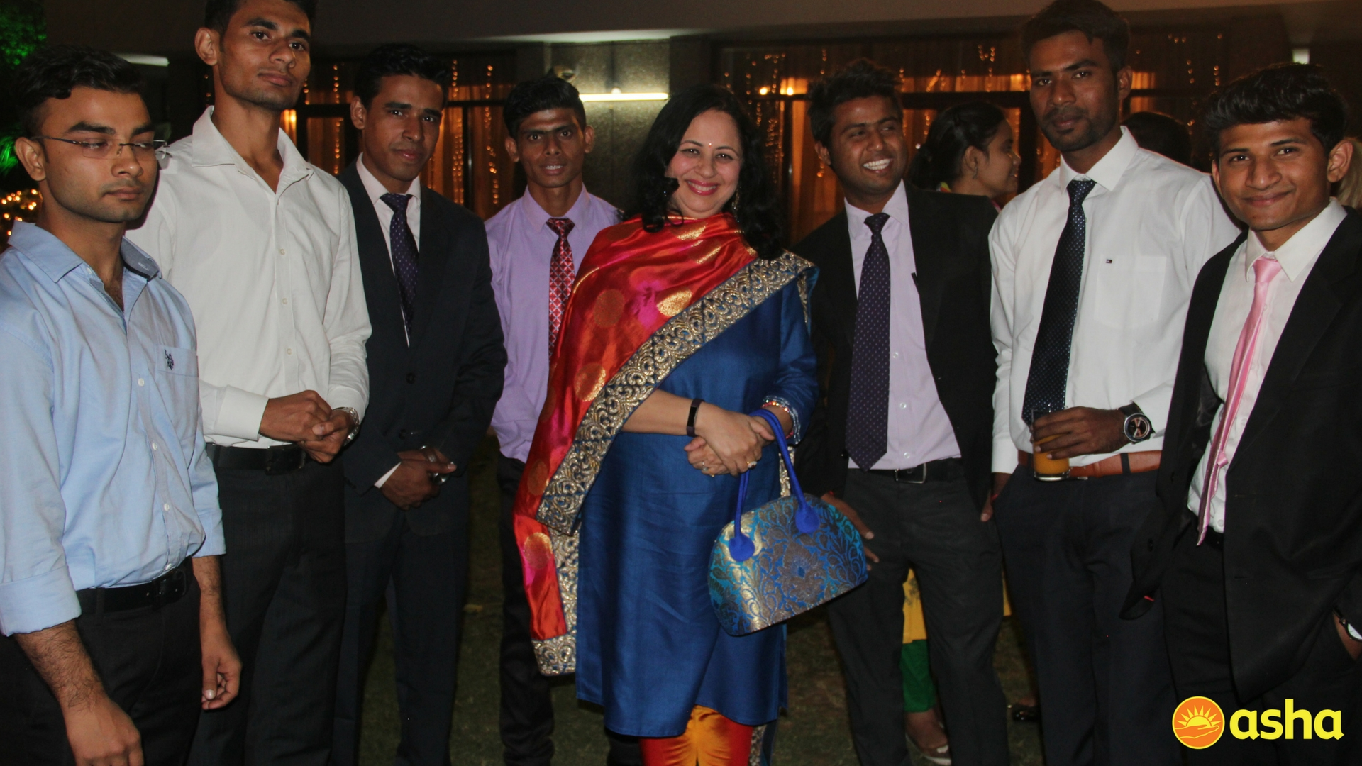 Dr Kiran with the Asha graduates, who are presently placed in leading organisations.