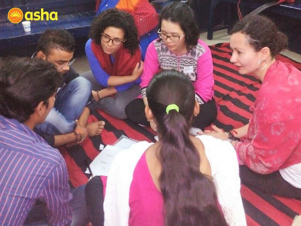 The Monash team taught English to Asha students, conducted workshops on resume writing and organised learning and empowerment activities.