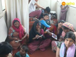 Interestingly, the team also held some stress-busting activities for the women from new Seelampur area. Seen here are women involved in adult colouring activities.