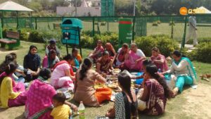 Pot luck lunch organised at Kalkaji.