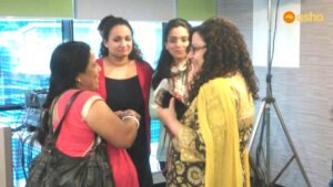 CHV Snehalata interacting with the Macquarie team.