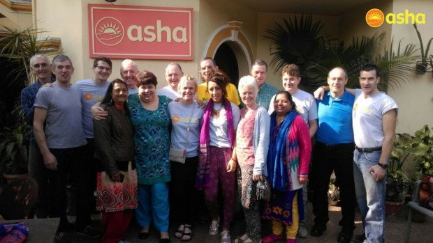 Team Ballymena volunteers at Asha