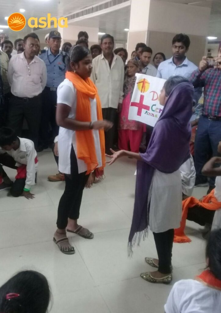 Anna Nagar team during some activity at Lok Nayak hospital.