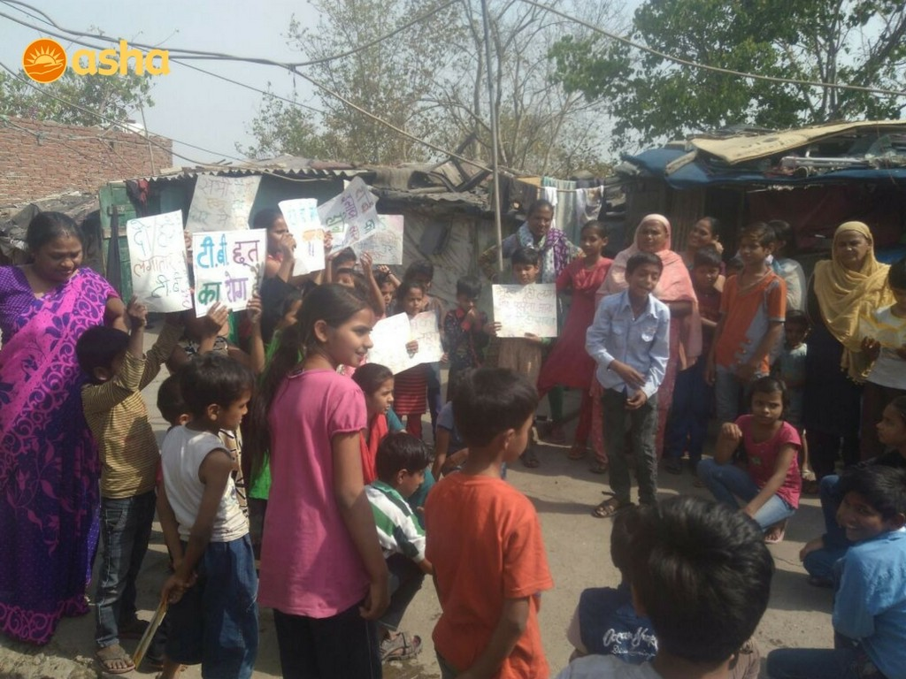 Children's Association in Chanderpuri organised street-play in the community