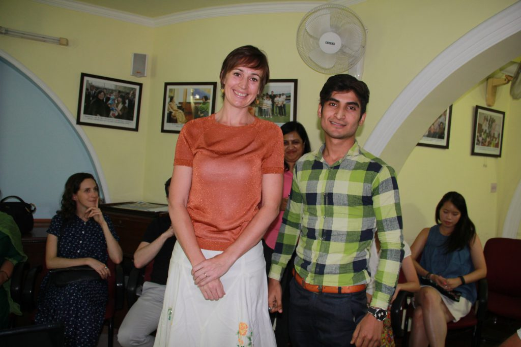 Suzannah Jessep, Deputy High Commissioner of New Zealand to India with her mentee Pradeep from Tigri slum community.
