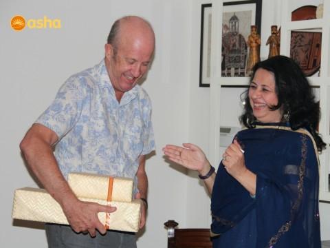 Asha bids farewell to Mark Westenra, First Secretary of New Zealand High Commission