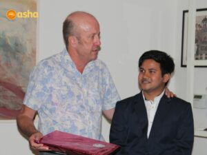 Mark Westenra with his mentee Akhlaq