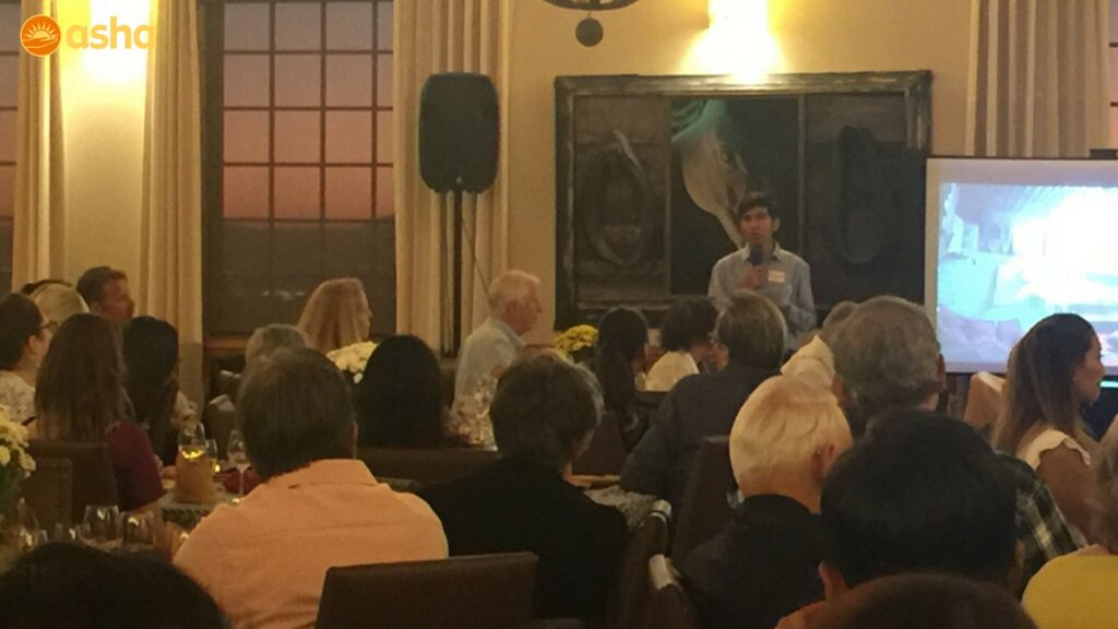 Sandeep sharing his journey with the asha supporters at Napa valley