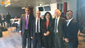 Dr Kiran and Mahinder with the Chairman and board members of Asha Australia at a lunch hosted by PricewaterhouseCoopers (PwC) in Melbourne