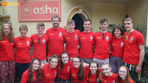 Royal School Armagh volunteers at Asha – 2017