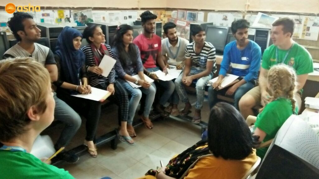 Interactive session between Royal school students and Asha graduates