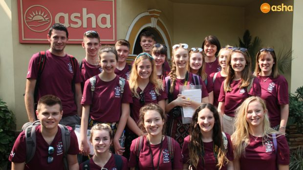Ballymena Academy volunteers at Asha – 2017
