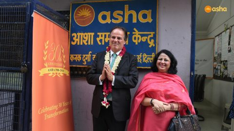 Britain's Foreign Office Minister, Rt Hon Mark Field MP, visits Asha