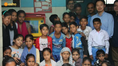 Inauguration of 'Hole in the Wall' Project at Asha centre in Seelampur