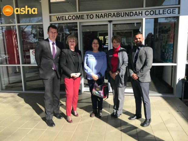 Dr Kiran addressed high school students at Narrabundah College, Canberra