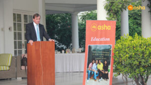 The Honourable British High Commissioner to India, Sir Dominic Asquith KCMG addressing the gathering
