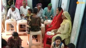 Luncheon at Asha's Zakhira slum community