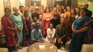 David's team with Dr Kiran Martin and Asha Graduates