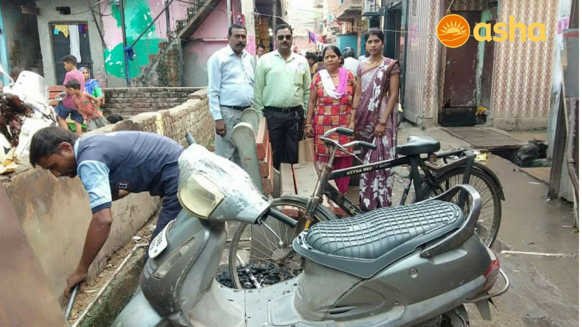 Authorities examining the slum