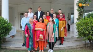 Sir Dominic Asquith KCMG and Dr Kiran along with the United Methodist Team