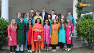 Sir Dominic Asquith KCMG and Dr Kiran along with the Wallace Team