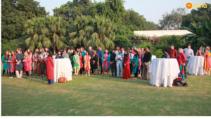 Teams at British High Commissioner's residence
