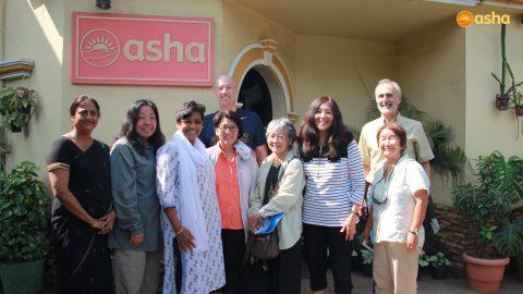 The United Methodist team visits Asha