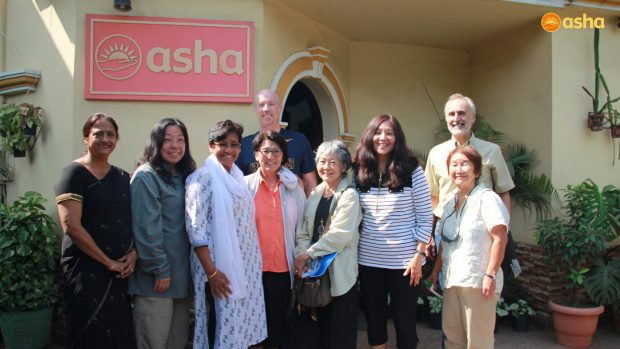 The United Methodist team visits Asha
