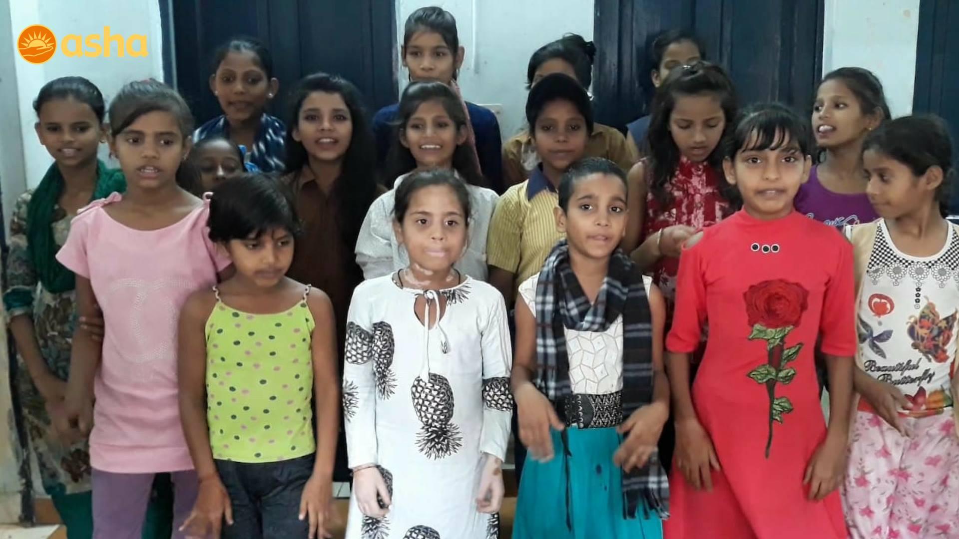 Zakhira's Bal Mandal children singing a song 'Betiyaan'
