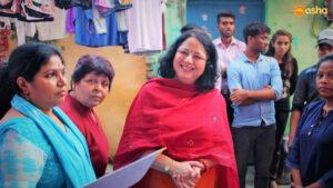 Dr Kiran with Ms Rani (Asha Supervisor) and Ms Pushpa (Team Leader)