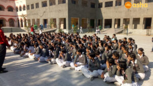 Tigri team interacting with the students of a govt. school