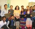 A gift of Technology to meritorious Asha students by Dr Kiran