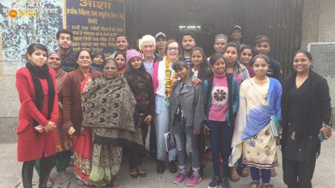 Prof Gilah and Dr Jack Leder visits Asha