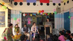 Dr Kiran welcoming Suzannah