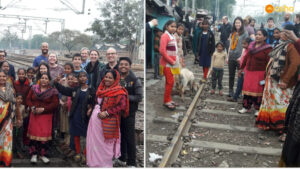 The Reservoir team on a slum visit at Asha's Mayapuri slum community