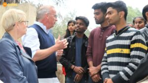 The Vice-Chancellor of the University of Sydney Mr. Michael Spence AC interacting with the Asha Students