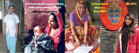 Celebrating Women's Day at Asha slums