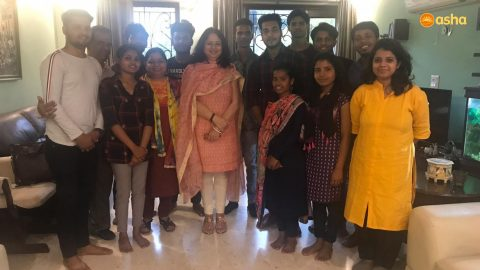 Dr Kiran meets Asha Students and Graduates