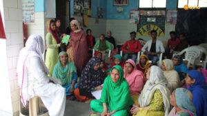 Mother's Day celebration at Asha's Seelampur slum community