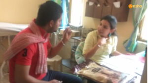 Shubham (name changed to protect privacy) during the counselling session