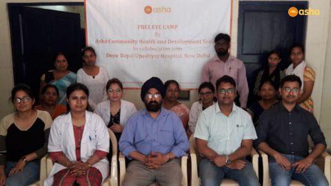 Asha conducts a Free Eye Camp at Mayapuri slum