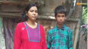 Rohit (name changed) with his mother