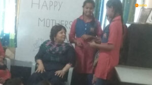 Mother's Day celebration at Asha's Kusumpur slum community