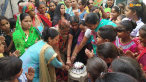 Mother's Day celebration at Asha's Kalkaji slum community