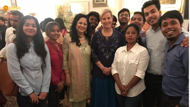 Her Royal Highness the Countess of Wessex meets Dr Kiran