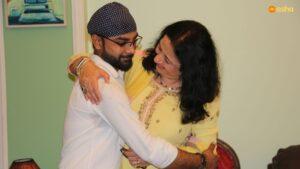 Dr Kiran with Junaid (an Asha Ambassador)
