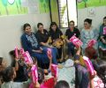 Workshop on menstrual hygiene at Asha's Kalkaji slum community