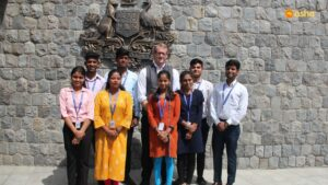 Australian Deputy High Commissioner to India, Mr Rod Hilton with Asha Interns
