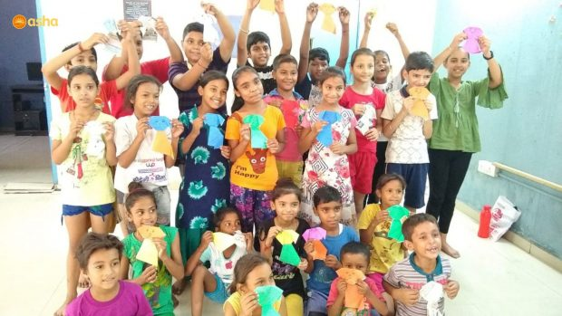 Celebration of Father's Day at Asha slums