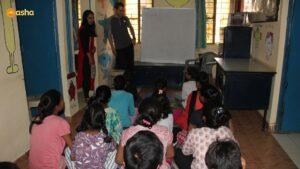 Jeremy at Asha slum- Kusumpur Pahari